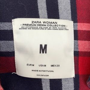 Zara Tops - Zara Plaid Flannel Shirt